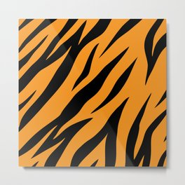 Tiger background #society6 #decor #buyart #artprint Metal Print
