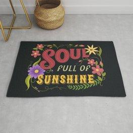 Soul Full Of Sunshine Vintage Floral Sign Rug