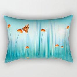 Spring Blue Rectangular Pillow