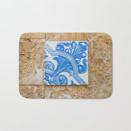 One blue Portuguese tile Bath Mat