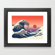The Great Wave of Sloth Framed Art Print