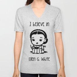 I believe in Ellen G. white Unisex V-Neck