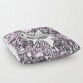 Love вoodle . pink Floor Pillow