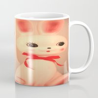 bunnies Mugs featuring  Bunnies by Vintage  Cuteness