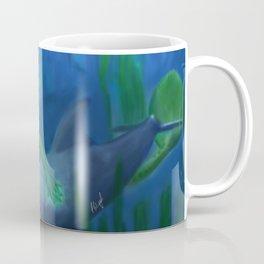 Mermaid and Dolphin Coffee Mug
