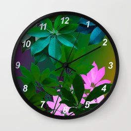Plant, Leaf Composition Wall Clock