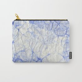 blue crumpled paper Carry-All Pouch