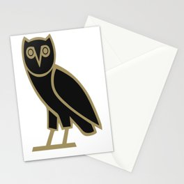 Drake OVO Owl in Gold Stationery Cards