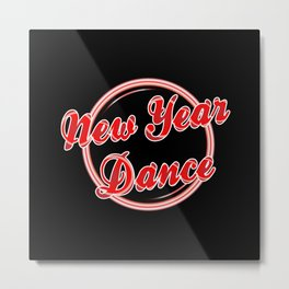 New Years Florescent Light Metal Print