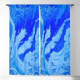 Fluid Blue Blackout Curtain