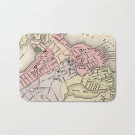 Vintage Map of Portsmouth NH (1877) Bath Mat