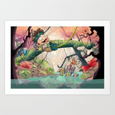 Jungle kid. Art Print