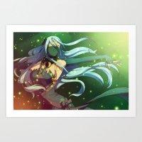 fire emblem Art Prints featuring Fire Emblem IF Dancer by TiuanaRui