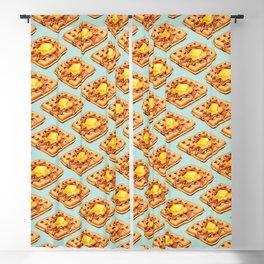 Waffle Pattern Blackout Curtain