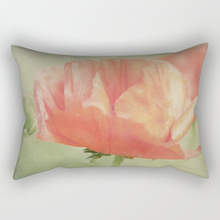 Big Poppy digital Paintings Rectangular Pillow