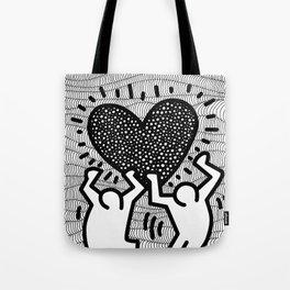 Keith Haring - heart Tote Bag