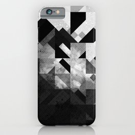 Abstract Black Geometric iPhone Case