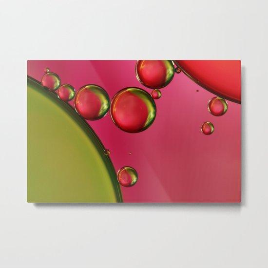 Lime Green & Strawberry Metal Print