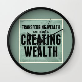Creating Wealth Wall Clock