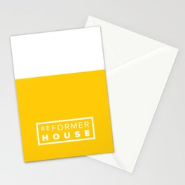 Reformer House White on Yellow Stationery Cards