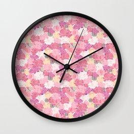 Carpet of Colorful Peonies Wall Clock
