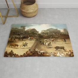 """Francisco Goya """"Bullfight in a Divided Ring"""" Rug"""