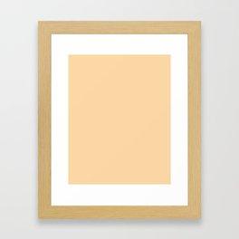 Plain  simple  palette beige Framed Art Print