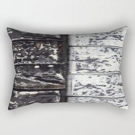 White Black Boxes Rectangular Pillow
