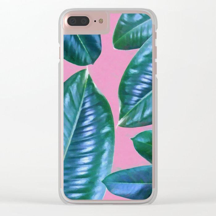 Ficus Elastica Clear iPhone Case