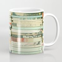 library Mugs featuring Bookworm by Cassia Beck