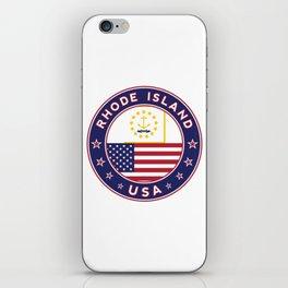 Rhode Island, USA States, Rhode Island t-shirt, Rhode Island sticker, circle iPhone Skin