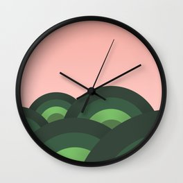 Foothills Fresh Nature 70s Wall Clock