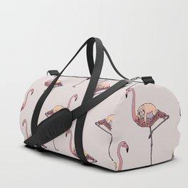 Flamingo and Sloth Duffle Bag