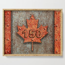 Iron Maple Leaf. Serving Tray