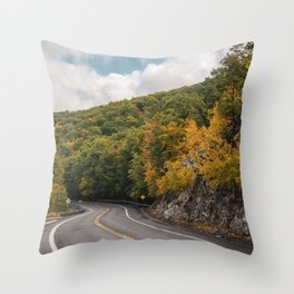 Route 52 Throw Pillow