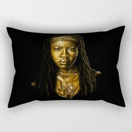 Michonne Golden Rectangular Pillow