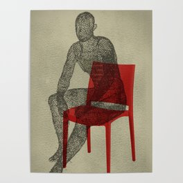 red chair Poster
