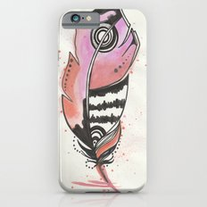 Pink and Orange Feather iPhone 6s Slim Case