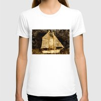 sailboat T-shirts featuring Golden Sailboat by Michael Moriarty Photography