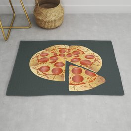 Pepperoni Pizza Rug