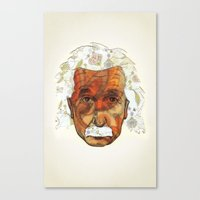 einstein Canvas Prints featuring Einstein by Jason Ratliff
