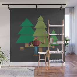 Work Proud Lumberjack Wall Mural