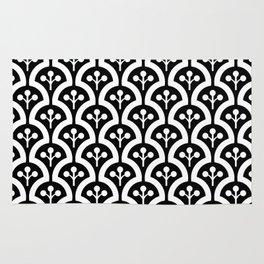 Atomic Mushroom Black & White Rug