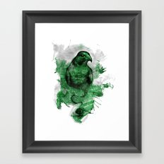 Eagle- Green Framed Art Print