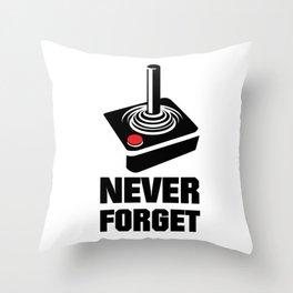 Never Forget Art Throw Pillow