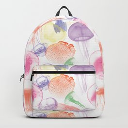 Electric Jellyfish in White Backpack