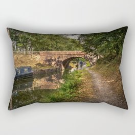 Towpath to Pewsey Bridge Rectangular Pillow