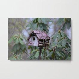 Aged Birdhouse Metal Print