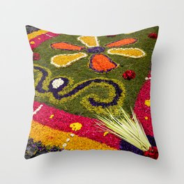 Guatemala - Alfombra Brights Throw Pillow