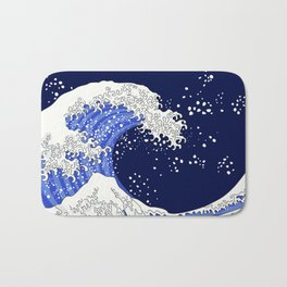 Great Blue Wave Bath Mat